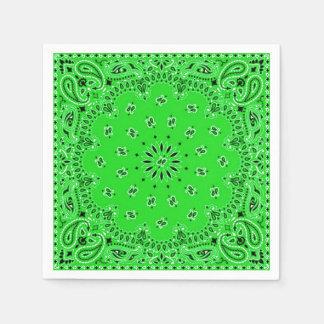 Spring Green Paisley Bandana Scarf BBQ Picnic Disposable Serviette