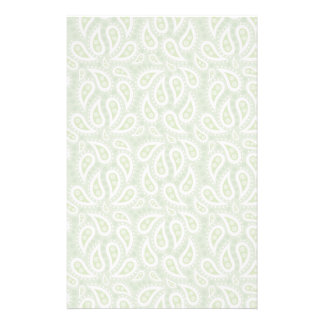 Spring Green Paisley Floral Stationery