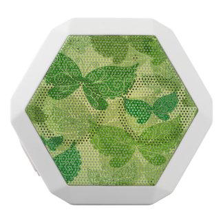 Spring Green Pattern White Boombot Rex Bluetooth Speaker