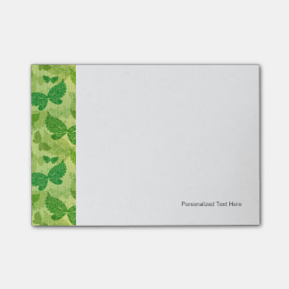 Spring Green Pattern Post-it Notes