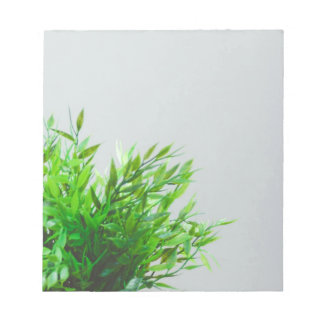 Spring Green Plant Nature Growing Gardening Notepad