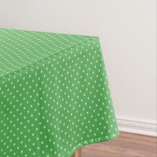 Spring Green Polka Dot Pattern Tablecloth