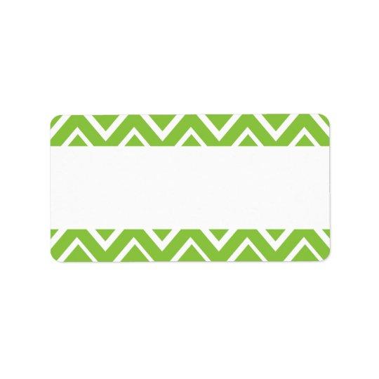 Spring green whimsical zigzag chevron pattern address label