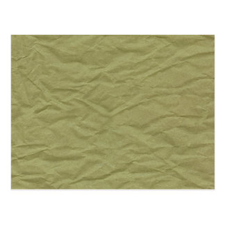 Spring Green Wrinkled Paper Texture Postcard
