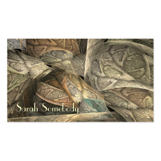 Spring Greens Fractal Profile Card Pack Of Standard Business Cards