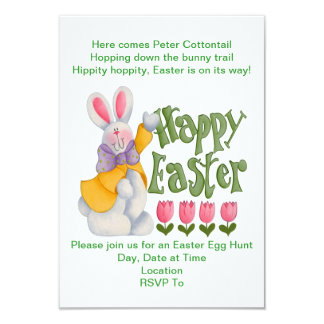 Spring Greetings Easter Egg Hunt Invitations