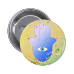 Spring Hand of Fatima Pinback Buttons