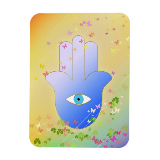Spring Hand of Fatima Rectangular Magnet