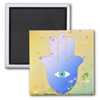 Spring Hand of Fatima Square Magnet