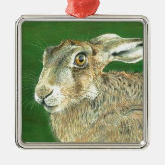 Spring Hare Christmas Ornament