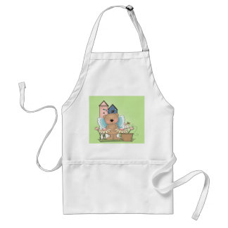Spring Has Sprung, Adorable Butterfly Bear Standard Apron