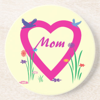 Spring Heart Mother's Day Sandstone Coaster