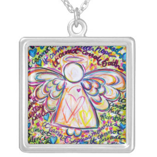 Spring Hearts Angel Cancer Cannot Necklace Pendant