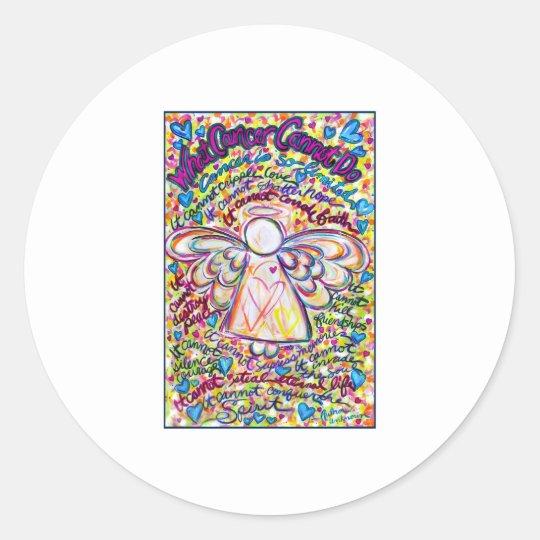 Spring Hearts Angel Round Sticker