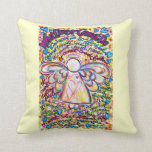 Spring Hearts Cancer Angel Decorative Throw Pillow