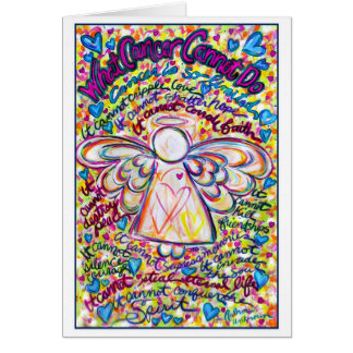 Spring Hearts Cancer Angel Greeting Card