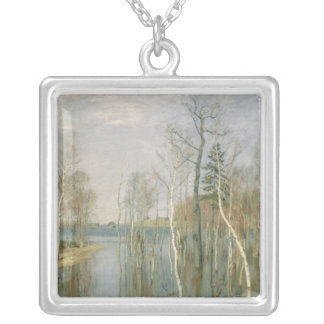 Spring, High Water, 1897 Silver Plated Necklace