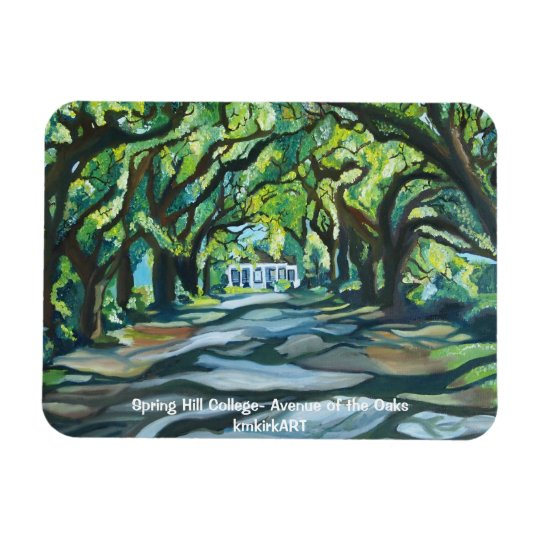 Spring Hill College- Avenue of the Oaks kmkirkART Rectangular Photo Magnet