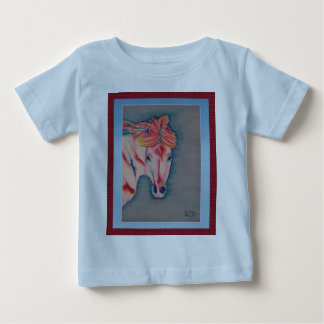 Spring Horse infant tee light blue