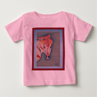 Spring Horse infant tee pink