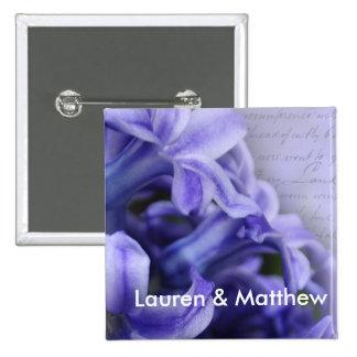 Spring Hyacinths 15 Cm Square Badge