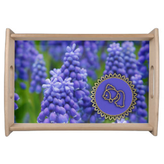 Spring Hyacinths Design Nowruz Gift Serving Tray