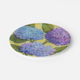 Spring Hydrangeas I 7 Inch Paper Plate