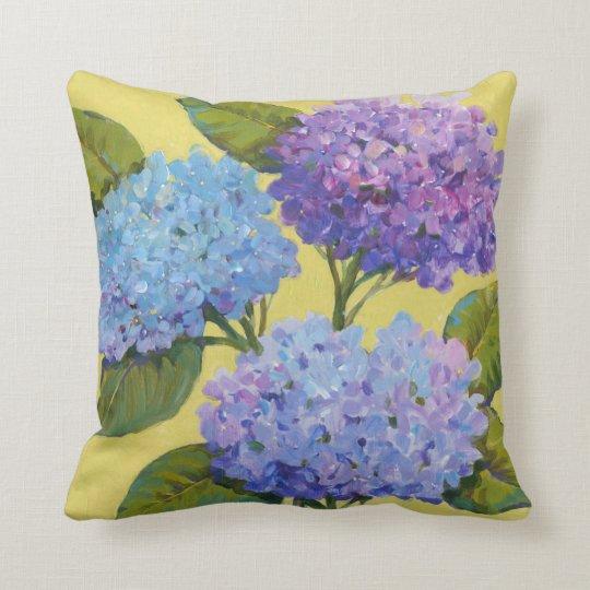 Spring Hydrangeas I Throw Pillow