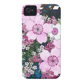 Spring in Japan - Cute and Girly Kimono Style iPhone 4 Case-Mate Cases