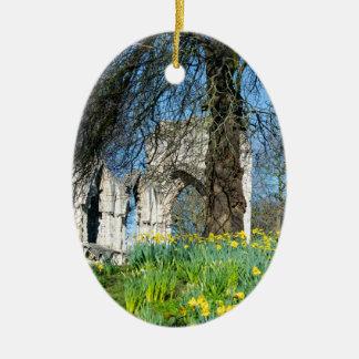 Spring in Museum Gardens Ceramic Oval Decoration