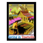 Spring in Townville Postcard
