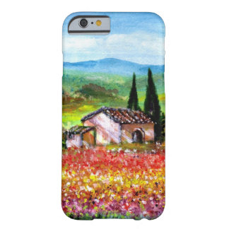 SPRING IN TUSCANY / COLORFUL FLOWER FIELDS BARELY THERE iPhone 6 CASE