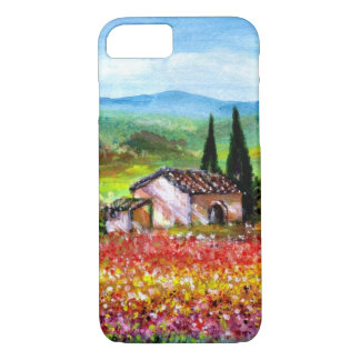 SPRING IN TUSCANY / COLORFUL FLOWER FIELDS iPhone 7 CASE