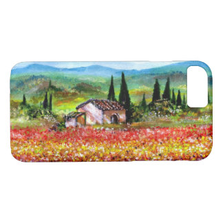 SPRING IN TUSCANY LANDSCAPE Colorful Flower Fields iPhone 7 Case