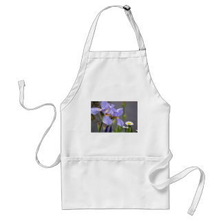 Spring Iris and Daisy Flowers Aprons