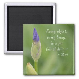 Spring Iris Square Magnet