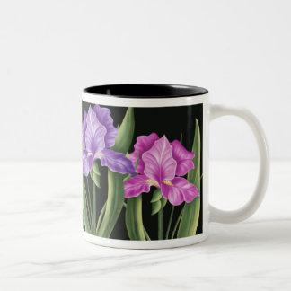 Spring Iris Two-Tone Coffee Mug
