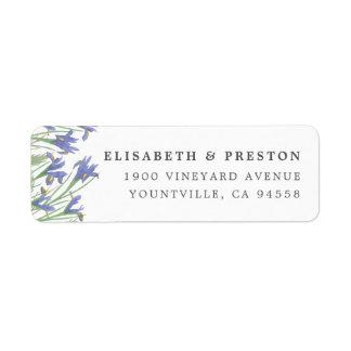 Spring Iris   Watercolor Floral Return Address Return Address Label