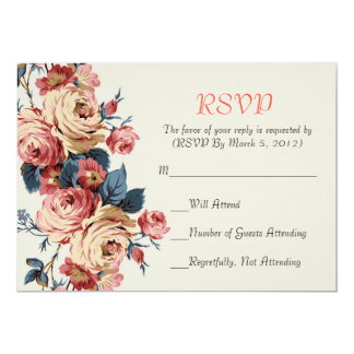 Spring is coming RSVP card 13 Cm X 18 Cm Invitation Card