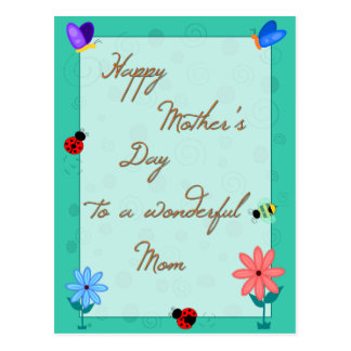 Spring is Here! Mother's Day Postcard