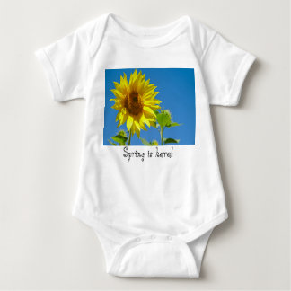Spring is here! - Springtime sunflowers Baby Bodysuit