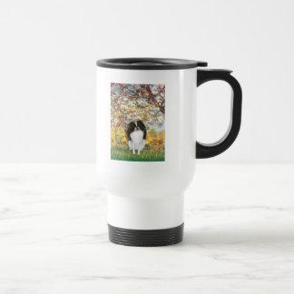 Spring - Japanese Chin 3 Stainless Steel Travel Mug