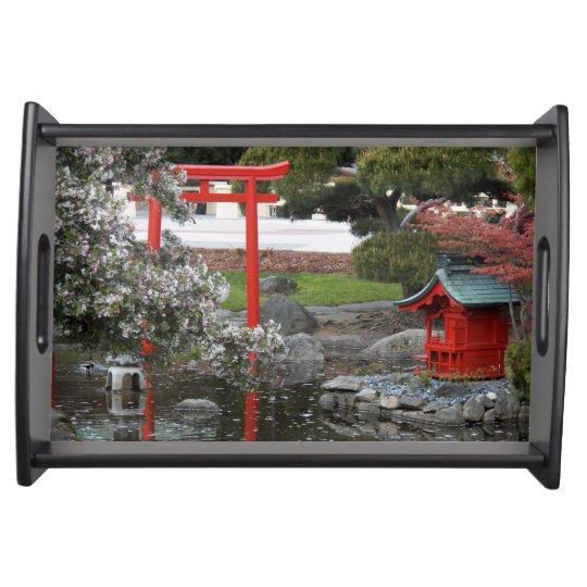 Spring Japanese Garden Serving Tray