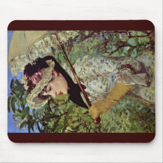 Spring (Jeanne) By Manet Edouard Mouse Pad