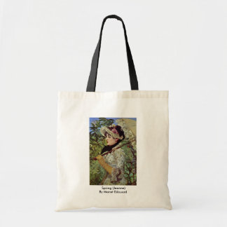 Spring (Jeanne) By Manet Edouard Budget Tote Bag