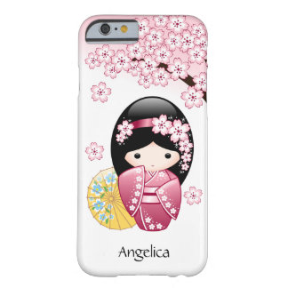 Spring Kokeshi Doll - Cute Japanese Geisha Girl Barely There iPhone 6 Case