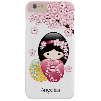Spring Kokeshi Doll - Cute Japanese Geisha Girl Barely There iPhone 6 Plus Case