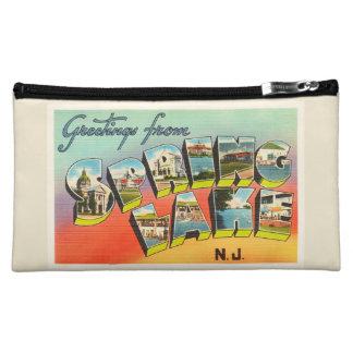 Spring Lake New Jersey NJ Vintage Travel Postcard- Makeup Bag