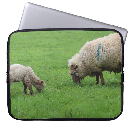 Spring Lamb and Sheep Laptop Sleeve