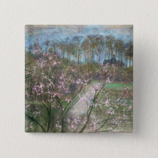 Spring Landscape 15 Cm Square Badge